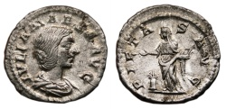 Ancient Coins - JULIA MAESA AR Denarius. EF. PIETAS AVG. Excellent!