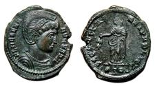 Ancient Coins - HELENA AE3 (Centenonial). EF. Treveri mint. SECVRITAS REI PVBLICE.