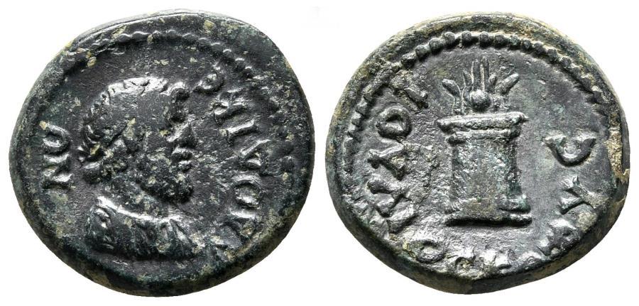 Ancient Coins - LAODICEA AD LYCUM (Phrygia) AE17. VF+. Time of Titus. Mag. Ioulios Kotys.
