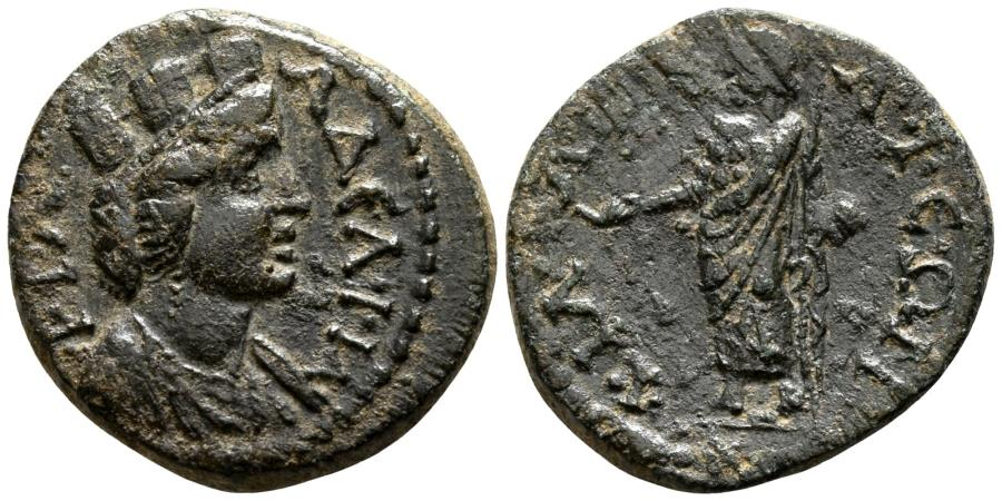 Ancient Coins - PHILADELPHIA (Lydia) AE21. EF-. Tyche - Zeus. Pseudo-autonomous issue.