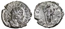 Ancient Coins - POSTUMUS AR Antoninianus. VF+. Colonia Agrippina mint. FELICITAS AVG.