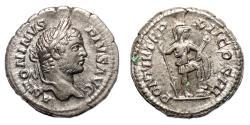 Ancient Coins - CARACALLA AR Denarius. EF-. Virtus - TR P XII.