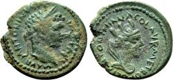 Ancient Coins - CARRHAE (Mesopotamia) AE17. EF-/EF. Caracalla. Tyche in reverse.