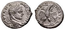 Ancient Coins - CARACALLA AR Tetradrachm. EF. Antioch mint. Eagle over Leg and Thigh. SUPERB COIN!