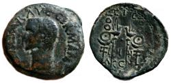 Ancient Coins - CALIGULA AE As. VF-/EF-. Standards and Acquilas.