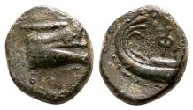 Ancient Coins - PHASELIS (Lycia) AE8. EF. Prow and Stern of Galley,