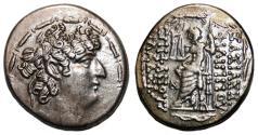 Ancient Coins - PHILIP I PHILADELPHOS AR Tetradrachm. EF/EF-. Zeus Nikephoros - Monogram