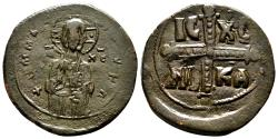 Ancient Coins - Anoymous (attribute to Michael IV) Follis. AD 1034-1041. EF-. Christ - Cross.