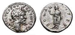 Ancient Coins - SEPTIMIUS SEVERUS AR Denarius. EF-/VF+. Emesa mint. BONA SPES. Scarce Mint and Reverse