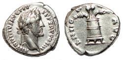 Ancient Coins - ANTONINUS PIUS AR Denarius. EF-. Modius - ANNONA AVG.