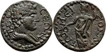 Ancient Coins - TERMESSOS (Pisidia) AE24. EF. Hermes - Athena.