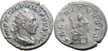 Ancient Coins - PHILIP I the Arab AR Antoninianus. EF-/EF (nice!) SECVRIT ORBIS