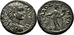 Ancient Coins - LAODICEA AD LYCUM (Phrygia) AE18. Caracalla. EF-/VF+. Tyche.