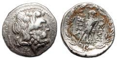 Ancient Coins - EPIROTE REPUBLIC (Epeiros) AR Drachm. VF+. Zeus - Eagle.