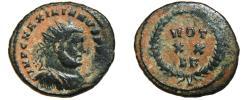 Ancient Coins - MAXIMIANUS HERCULIUS Æ Post-Reforma Radiate Fraction. VF. Carthage mint. VOT XX. Scarce!!!