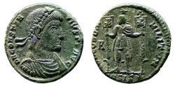 Ancient Coins - CONSTANTIUS II Æ AE21 (Maiorina) struck by VETRANIUS. EF-/VF+. Siscia mint. CONCORDIA MILITVM. Scarce.