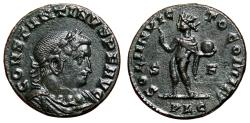 Ancient Coins - CONSTANTINE I AE Follis. EF. Lugdunum. Draped bust seen from the front. Scarce type.