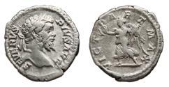 Ancient Coins - SEPTIMIUS SEVERUS AR Denarius. VF+/VF. VICT PART MAX. Reverse commemorative of the roman victory over Parthian Empire.
