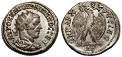 Ancient Coins - PHILIP I the Arab AR Tetradrachm. EF+ with ORIGINAL LUSTER. Antioch mint. Eagle to left.