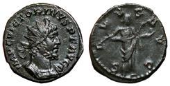 Ancient Coins - VICTORINUS AE Antoninianus. EF/VF+. Treveri mint. SALVS AVG.