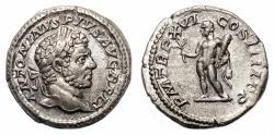 Ancient Coins - CARACALLA AR Denarius. EF+/EF. Hercules - P M TR P XVI COS IIII P P.