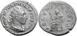 Ancient Coins - PHILIP I the Arab AR Antoninianus. EF-/EF (nice!) SECVRIT ORBIS