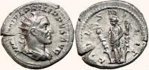 Ancient Coins - PHILIP I the Arab AR Antoninianus. VF+. FIDES MILITVM.