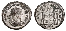 Ancient Coins - PROBUS Bi Antoninianus. EF/EF-. SILVERED. Antioch mint. CLEMENTIA TEMP. Excellent Quality!