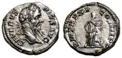 Ancient Coins - SEPTIMIUS SEVERUS AR Denarius. EF/EF+. Africa - TR P XV COS III.