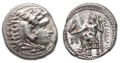 Ancient Coins - ALEXANDER III the Great AR Drachm. EF. Miletos mint. Zeus. LIFETIME Issue.