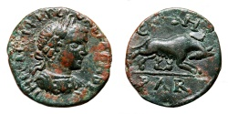 Ancient Coins - PARIUM AE20 (Severus Alexander). EF-. She-Wolf and Twins.