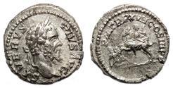 Ancient Coins - SEPTIMIUS SEVERUS AR Denarius. EF/EF-. Emperor - Enemy fallen. RARE!