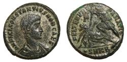 Ancient Coins - CONSTANTIUS GALLUS AE20 (Maiorina). EF-. FEL TEMP REPARATIO. Original SILVERING.