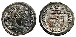 Ancient Coins - CONSTANTINE I AE3 (Centenonial). EF+. Antioch mint. Campgate.