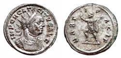 Ancient Coins - TACITUS Bi Antoninianus. EF+/EF-. FULLY SILVERED. Ticinum mint. MARTI PACIF.
