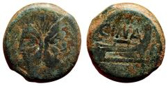Ancient Coins - L. Cornelius Cinna AE As. VF-/VF. Circa 169-158 BC. Prowl - CINA.