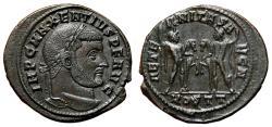 Ancient Coins - MAXENTIUS AE Follis. EF. Ostia mint. AETERNITAS AVG N - the Dioscuri.
