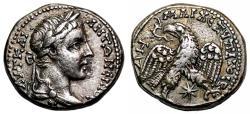 Ancient Coins - CARACALLA AR Tetradrachm. EF-. Laodicea mint. Eagle-Star. 2nd Consulate. SCARCE and EXCELLENT