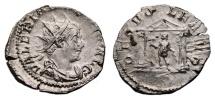 Ancient Coins - VALERIAN I AR Antoninianus. VF. Colonia Agrippina mint. DEO VOLKANO. Scarce Reverse.