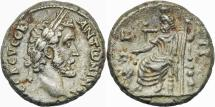 Ancient Coins - ANTONINUS PIUS AR (low grade) Tetradrachm. EF-/VF+. Alexandria mint. Serapis - Year 7.