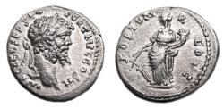 Ancient Coins - SEPTIMIUS SEVERUS AR Denarius. EF-. Emesa mint. FORTVN REDVC. Scarce and precious coin!