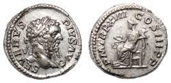 Ancient Coins - SEPTIMIUS SEVERUS AR Denarius. EF+/EF. Salus - P M TR P XVII COS III P P.