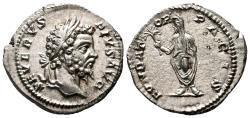 Ancient Coins - SEPTIMIUS SEVERUS AR Denarius. EF+. Septimius veiled - FVNDATOR PACIS.