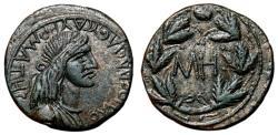 Ancient Coins - Bosphorus Kingdom. SAUROMATES I AE25. EF. Wreath - MH.