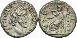 Ancient Coins - ANTONINUS PIUS AR (low grade) Tetradrachm. EF-/VF+. Alexandria mint. Serapis - Year 7.