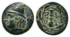 Ancient Coins - BIRYTIS (Troas) AE11. EF. Kabeiros - Club