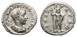 Ancient Coins - GORDIAN III AR Denarius. EF+/EF. IOVIS STATOR.