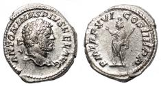 Ancient Coins - CARACALLA AR Denarius. EF. TR P XVI - Serapis.