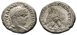 Ancient Coins - CARACALLA AR Tetradrachm. EF/EF-. Berytus mint. Eagle to left - Prowl. HIGH QUALITY!!!