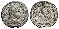 Ancient Coins - CARACALLA AR Tetradrachm. EF/EF-. Seleucia Pieria mint. Thunderbolt - Eagle. SCARCE and EXCELLENT!